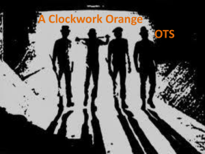 A Clock Work Orange