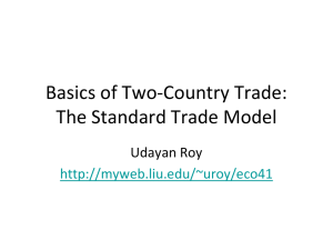 Basics of Two-Country Trade
