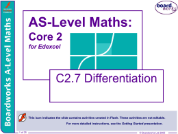 C2.7 Differentiation