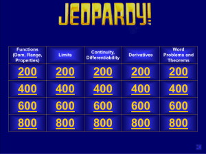 PLUS Activity 25: Jeopardy