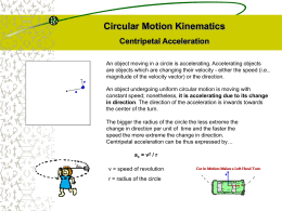 Circular Motion (PowerPoint)