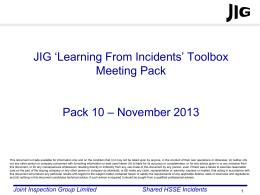 JIG LFI Toolbox Pack 10 - Joint Inspection Group