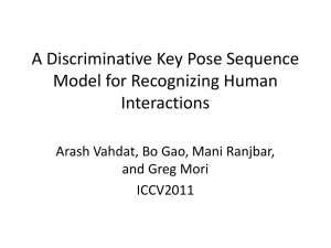 A Discriminative Key Pose Sequence Model for Recognizing Human