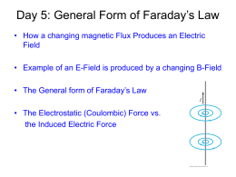 General Form of Faraday`s Law