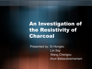 An Investigation of the Resistivity of Charcoal