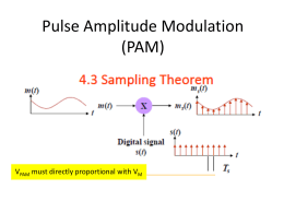 Pulse Amplitude Modulation (PAM)