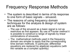 Frequency Response Methods
