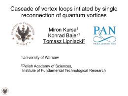 Cascade of vortex loops intiated by single reconnection of quantum