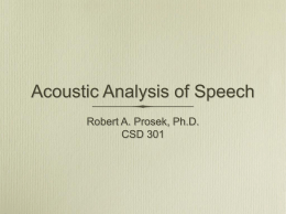 Acoustic Analysis of..