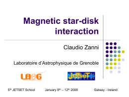 Star/disk Interaction - Jet Launching 2