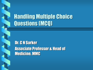 Handling Multiple Choice Questions (MCQ)