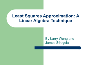 Least Squares and Linear Algebra