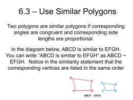 6.3 – Use Similar Polygons