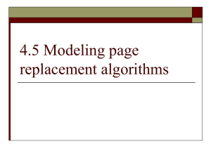 4.5 Modeling page replacement algorithms