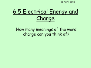 6.4 Electrical Power and Potential Difference.