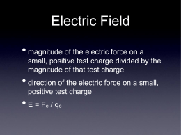 electric force, field, potential, and energy