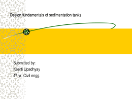 Design fundamentals of sedimentation tanks