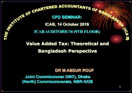 CPD Seminar Paper of 14 October 2010 on