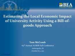 TMcComb_Local Impact of University Activity