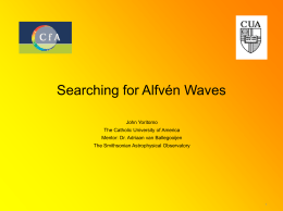 Searching for Alfvén Waves - Harvard