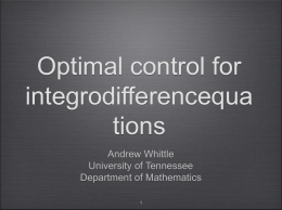 Optimal Control for Integrodifference Equations