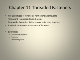 Chapter 10 Threaded Fasteners 10