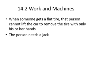 14.2 Work and Machines