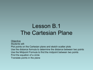 Lesson B.1 The Cartesian Plane