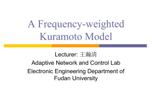 A Frequency-weighted Kuramoto Model