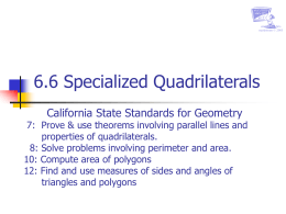 Specialized Quadrilaterals