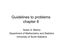 GuidelinesToProblems(chapter6)