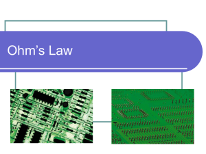 Ohms Law - Powerpoint Presentation