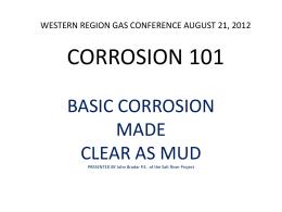 CORROSION 101 - Western Regional Gas Conference