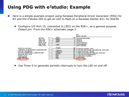 Using PDG with e2studio on RSK RX63N _Tutorial