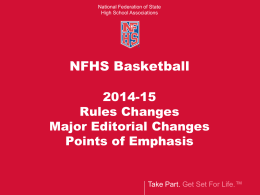 2014 Basketball Rules Clinic - Mississippi High School Activities