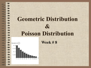 Geometric Distribution & Poisson Distribution
