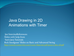 Java Drawing in 2D