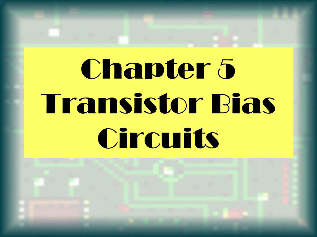 transistor bias circuits