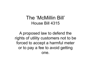 House Bill 4315 - Michigan Smart Meter Education Network