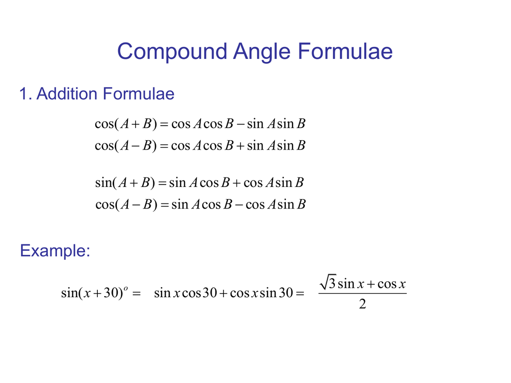 Double angles. Ppt video online download.