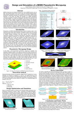 Design and Simulation of a MEMS Piezoelectric - Asee