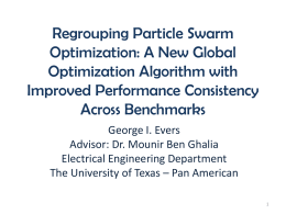 Regrouping Particle Swarm Optimization: A New