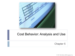 Step-Variable Costs