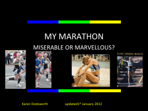 Marathon Training Presentation