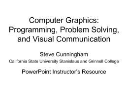 Rendering Pipeline - California State University Stanislaus