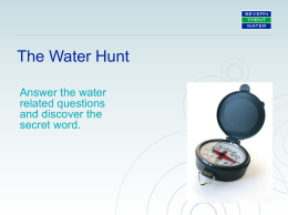 Water Hunt PP - Severn Trent Water