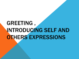 (1) Greeting-Introducing-Self-and-Others-Expressions
