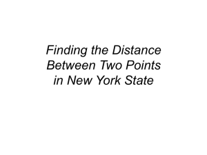 Finding the Distance Between Two Points in New