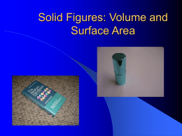 Solid Figures: Volume and Area