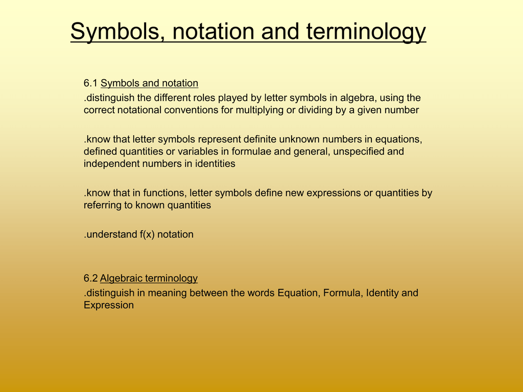 Symbols notation and terminology biocorpaavc Choice Image